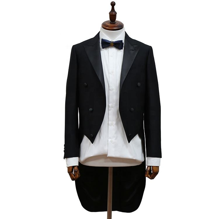 Hot sale Top exquisite men wedding tuxedo swallow-tailed coat for men suit
