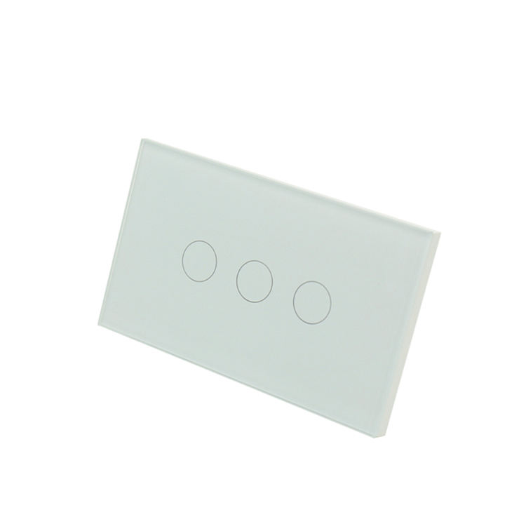 1Gang 2Gang 3Gang 1Way 10A 240V Glass Panel Material Single Live Line Remote 30 Meters Wireless Control Distance Smart Switch