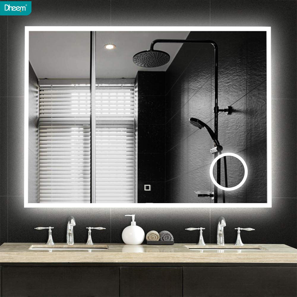 New Arrival Wall Mounted Square Cosmetic LED Lighted Bathroom Mirror
