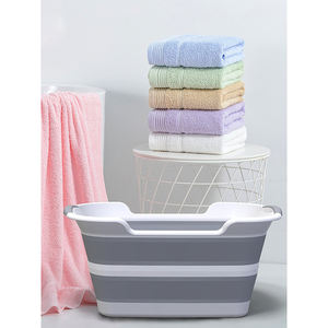 Folding dirty clothes basket domestic pet bathtub plastic sundry storage basket for home