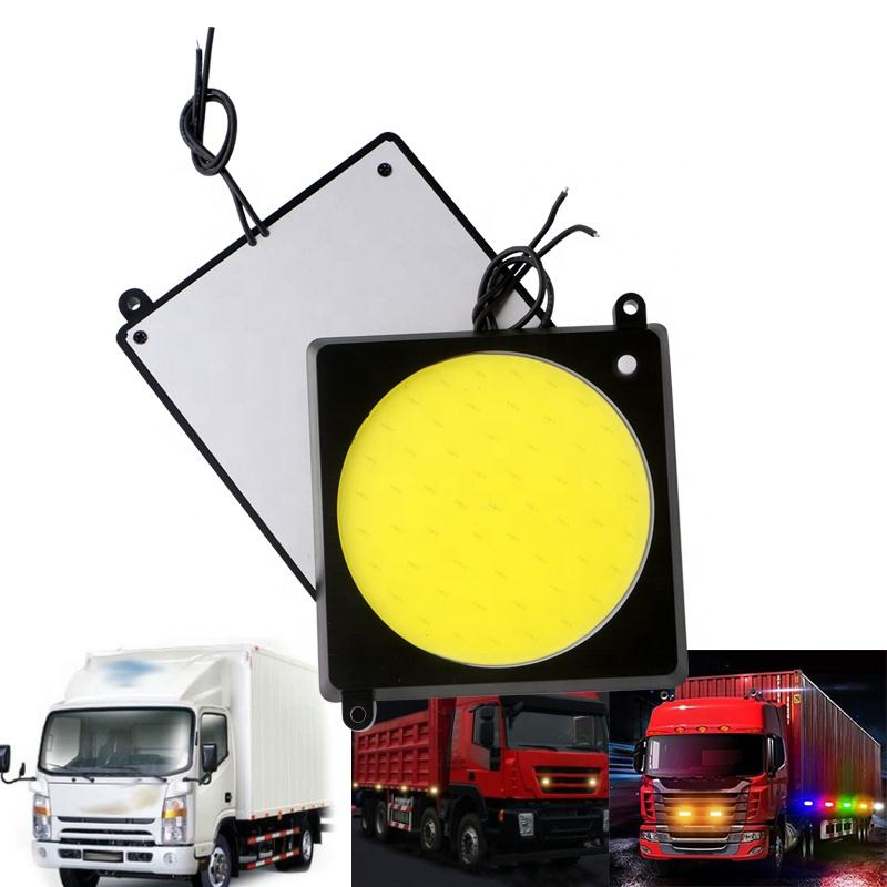 New Style COB Car Interior Lamp 24V Steamer Truck Led Reading Light With Switch Tap Push Stick Round Night Panel light