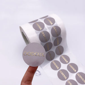 Customised Personalized Aluminium Stickers Embossed Metallic Foil Sticker Label Print