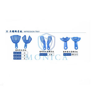 087 Blue Steel Plastic Dental Impression Tray L / M / S /Side Teeth / Anterior Teeth (can be autoclave)