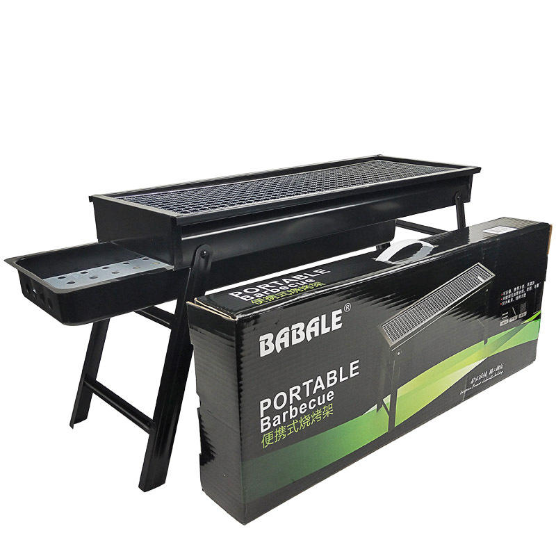Made in china outdoor grill big size for 5 people bbq grill portable folding charcoal barbecue grill