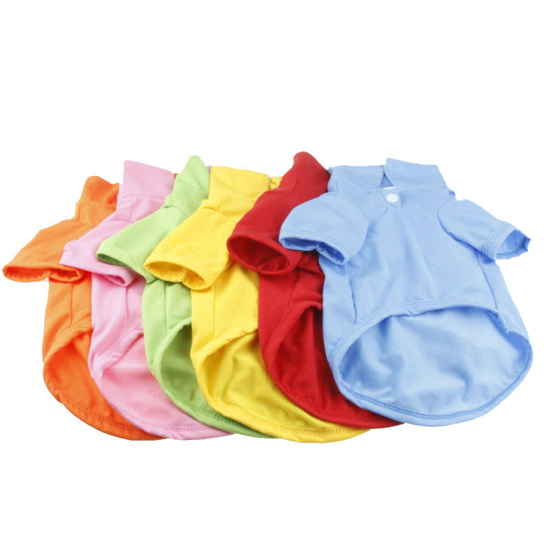 Cheap Price Multicolor Simply Polo Shirt Summer Dog Clothes Soft Cotton Puppy Blank Pet Clothes
