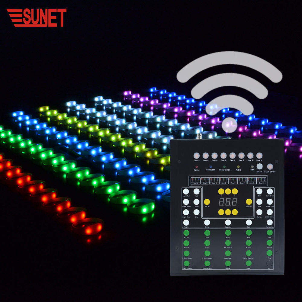 SUNJET New function event decoration equipment RGB led light flashing remote control 33 buttons concert dmx led bracelet