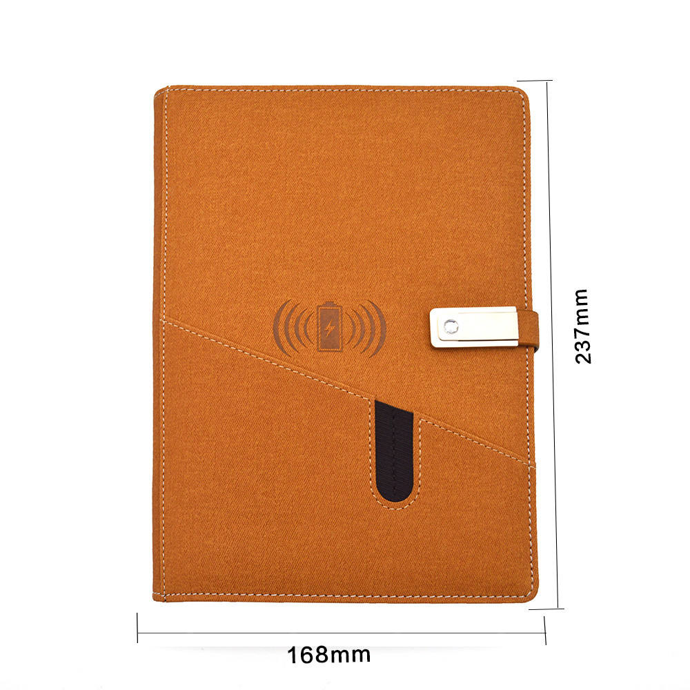 LT-N9 power bank notebook charging with pocket and pen belt