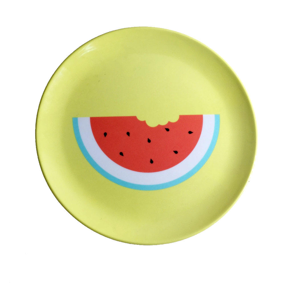 cheap lightweight 8 inch melamine kids plate with customize design