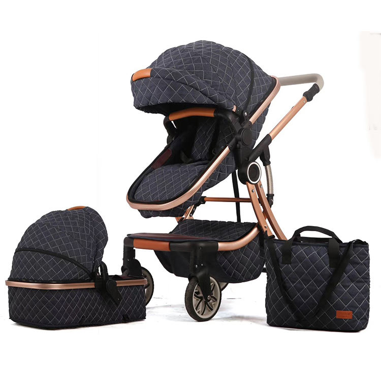SJ EN1888 wholesale certificate baby stroller 3 in 1/good quality cheap price baby pram/new design black european baby stroller