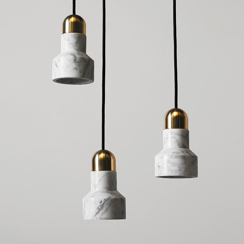 cylinder chandelier chandelier from plaster marble pendant light Marble imitation pendant light from plaster