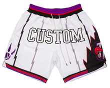 Custom logo fit dry retro sweat old school toronto vintage raptors pockets polyester white mesh just mens don  basketball shorts