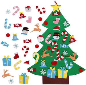 Ourwarm 2020 DIY 26 pcs Ornament Wall Hanging Felt Christmas Tree Decoration For Children
