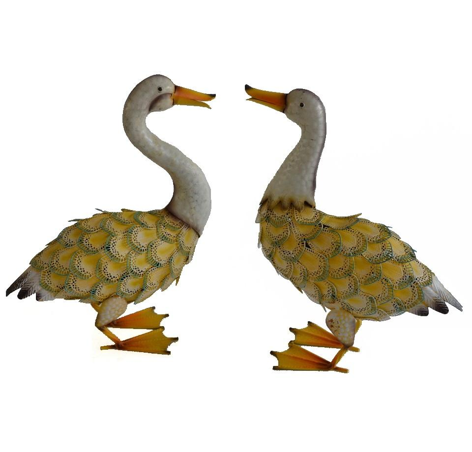 outdoor decor metal duck unpainted Garden Statues