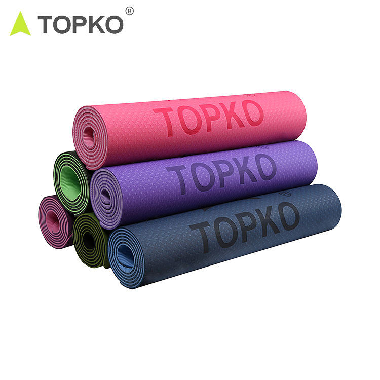 TOPKO Factory Price Double Layer Private Label Cheap TPE Yoga Mat
