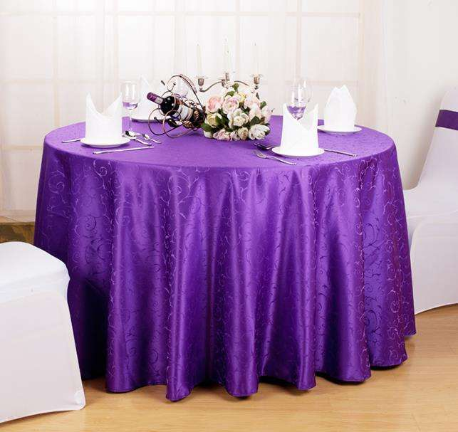 Cheap Factory Price Wedding Party Round Polyester Table Cloth