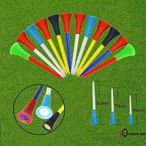 Offres Spéciales Amazon Tees de Golf En Plastique En Caoutchouc Coussin Incassable Flat Multi Couleur 54mm 7cm 70m 83mm longueur Biodégradable