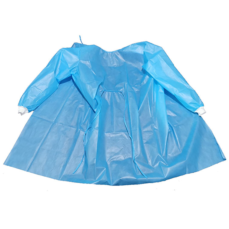 CE Level 3 PE Robe Isolation Waterproof Dust Proof Disposable Gown With Sleeves