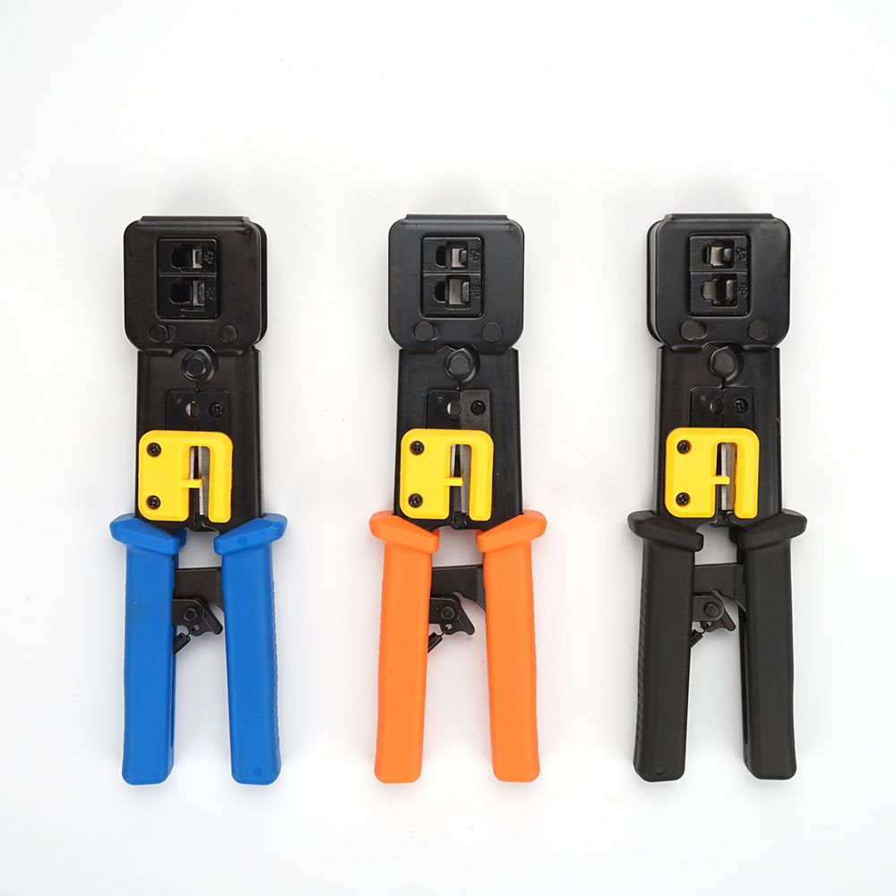 professional EZ RJ45 Modular Pass Through Connector Wire Crimper and Stripper Network UTP Cable Crimping Tool