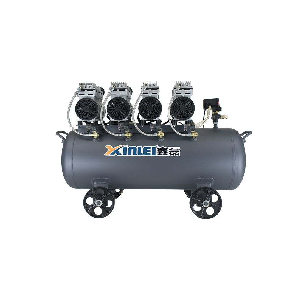 4 cylinders, silent oil free 4HP 3KW electric piston air compressor ZBW64-100L