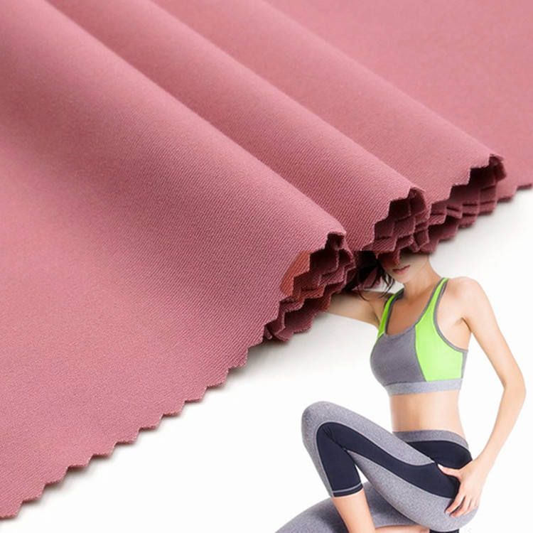 4 Way Stretch Polyester Spandex Breathable Compression Sportswear Yoga Cationic Fabric manufacturers Wholesale
