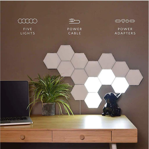 Factory Wholesale USB Touch Sensitive Led Panel Hexagon Light  Modular Touch Quantum Night Light Led Hexagonal Lamps