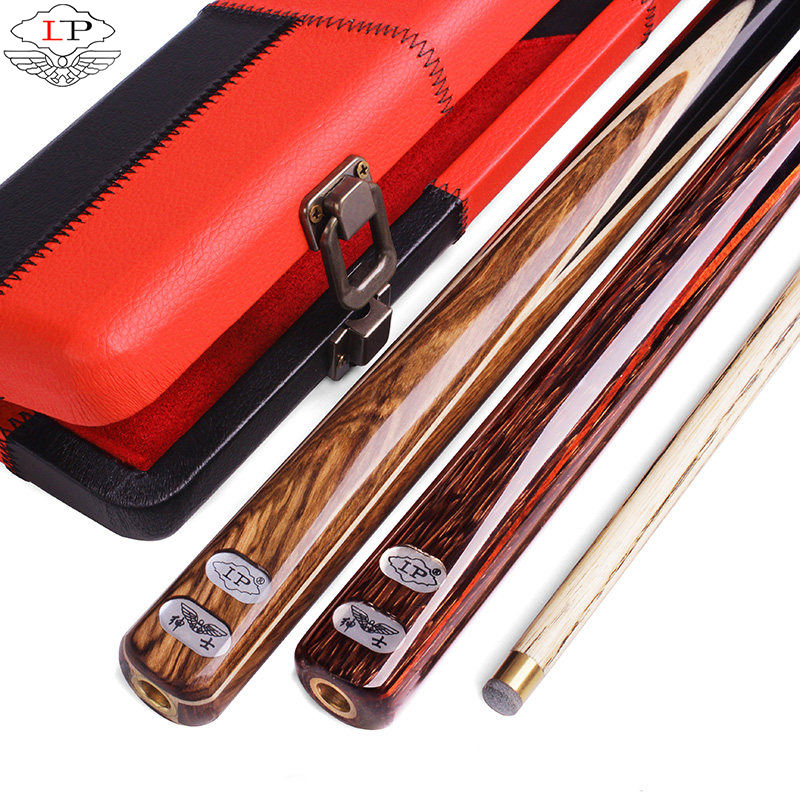 LP billiard pool cue stick GT series China long-standing brand 10mm tip import ash 3/4 joint yellow pear wood inlay snooker cue