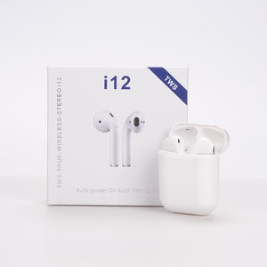 2020 Original Mini Audifonos BT 5.0 True Wireless I12 Earpoding Air Poder I12 Tws Headphone Earbuds