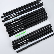 5*146mm 100% biodegradable straws compostable black printed i am not plastic PLA drinking straw PLA straws