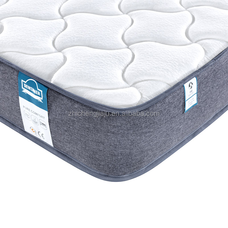 12 Inch HD foam Comfortable gel infused memory foam 5 zoned pocket spring mattress orthopedic mattress colchon