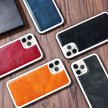 Vintage Leather PU Luxury Case For iPhone 11 11Pro Max  Ultra-thin Soft PU Anti Shock Back Cover For iPhone 11 Case