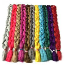 "Wholesale African Braiding Attachment Jumbo Braiding Hair Bulk Extensions 165g 82"" Solid Color Premium Ultra Braids"