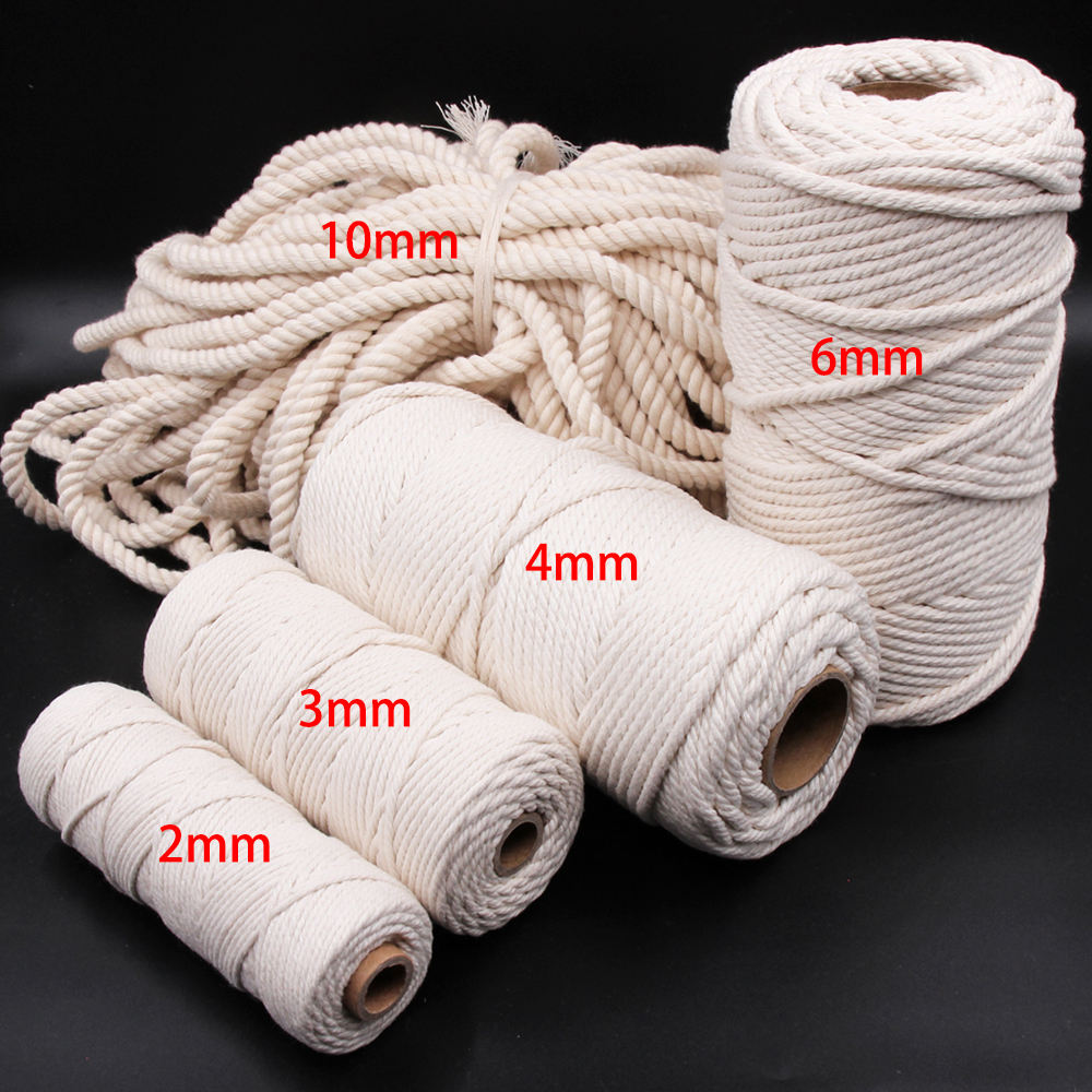Multi Colored Polyester Cord Nylon 2mm 3mm 4mm Macrame Braided CordFlat Nylon Parachute Cord