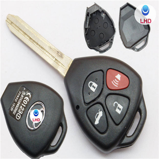 Remote 4Button Key Shell for TOYOTA Camry Avalon Corolla Matrix RAV4 Venza Yaris XGB25