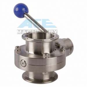 Stainless Steel/Cast Iron Lever Operated Lug Style Butterfly Valve