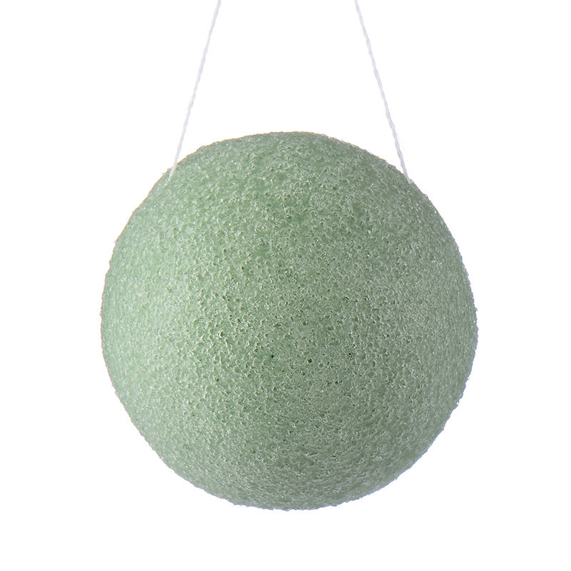 Quality assured cute free make up natural skin care body facial washing cleaning konjac face sponge for regular skin