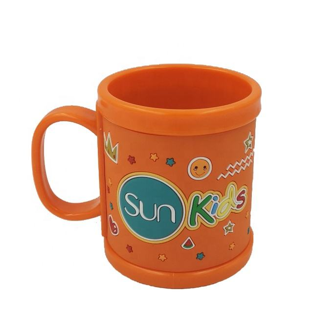 wholesale cute soft pvc wrap personalized cup plastic mug for kids