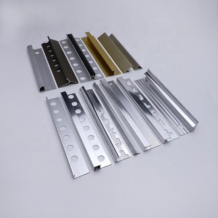 Free Sample Various Surface Treatment Decorative Special Extruded Aluminium Profile Tile Trim Corner