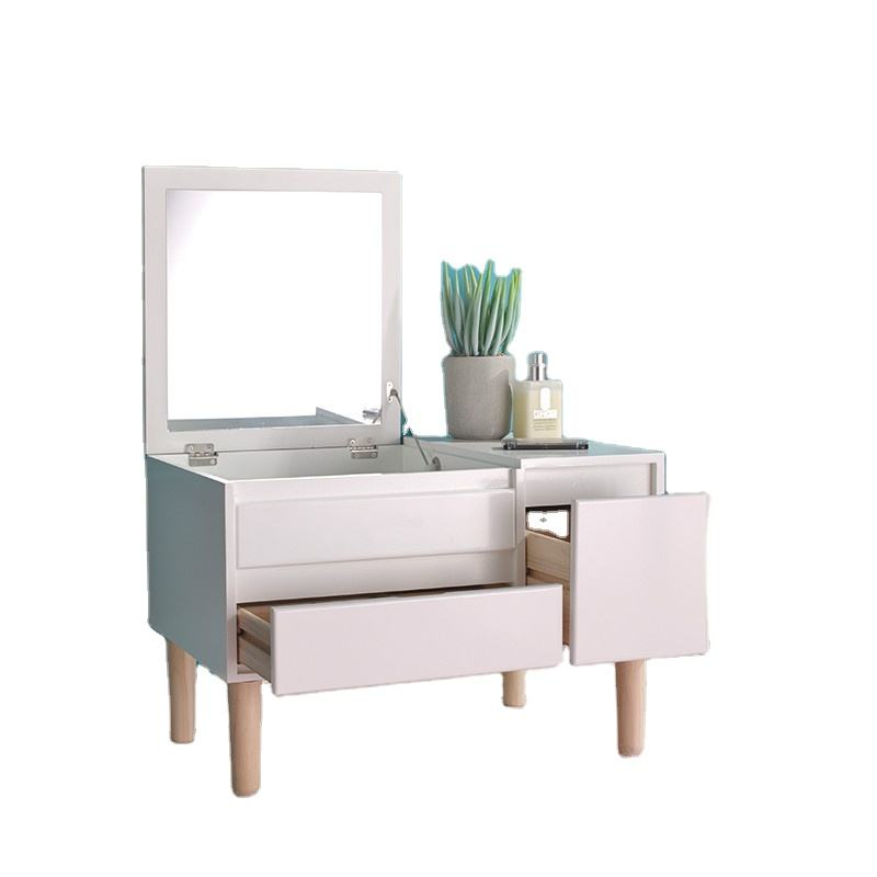 60 Nordic Bay window dressing table bedroom compact mini flip top dressing table