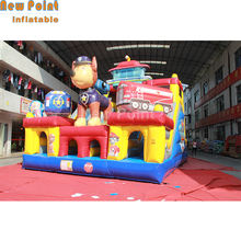 Guangzhou Customized Size Inflatable Paw Patro House Obstacle Course