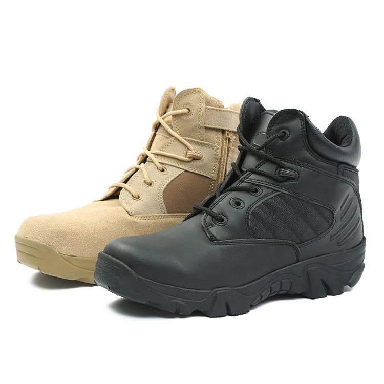 Men's Lace Up Army Safety Shoes Military Tactical Boots