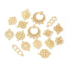 In Stock Gold Plated Zinc Alloy Metal Connector Charm Pendant for DIY Earrings Necklace Jewelry Making Accessories