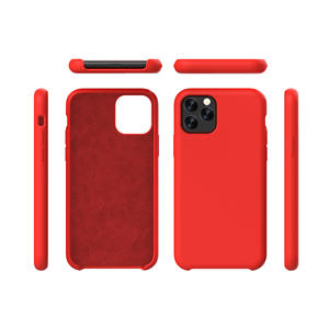 Shockproof Original Liquid Silicone Case Mobile Phone Case for iPhone 12 with LOGO Microfiber inside