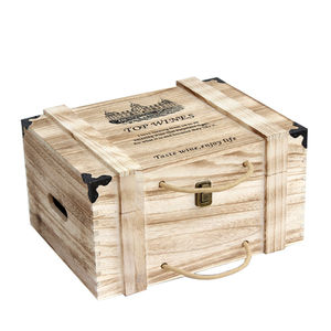 Retro 6 Bottle Wine Packaging Wooden General Wholesale Wine Gift Box