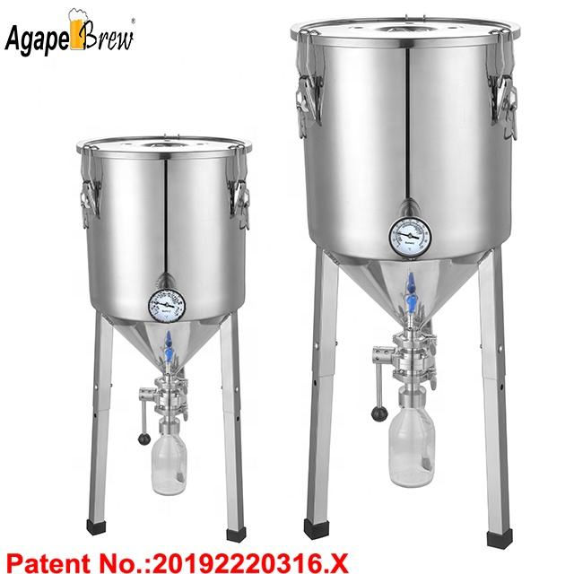40L High Quality Craft Beer Fermenting machine with Yeat Collecting Tank Cooling System machine
