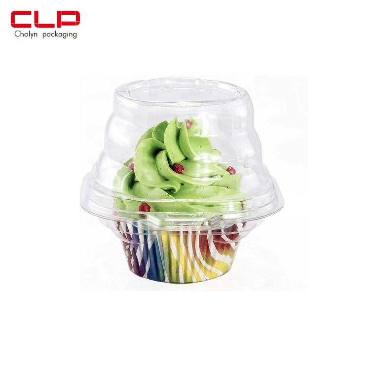 CLP Clear Plastic Single Compartment Take Out Carrier Cupcake Box