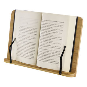 best selling high quality adjustable folding bamboo book reading stand for addult and kids