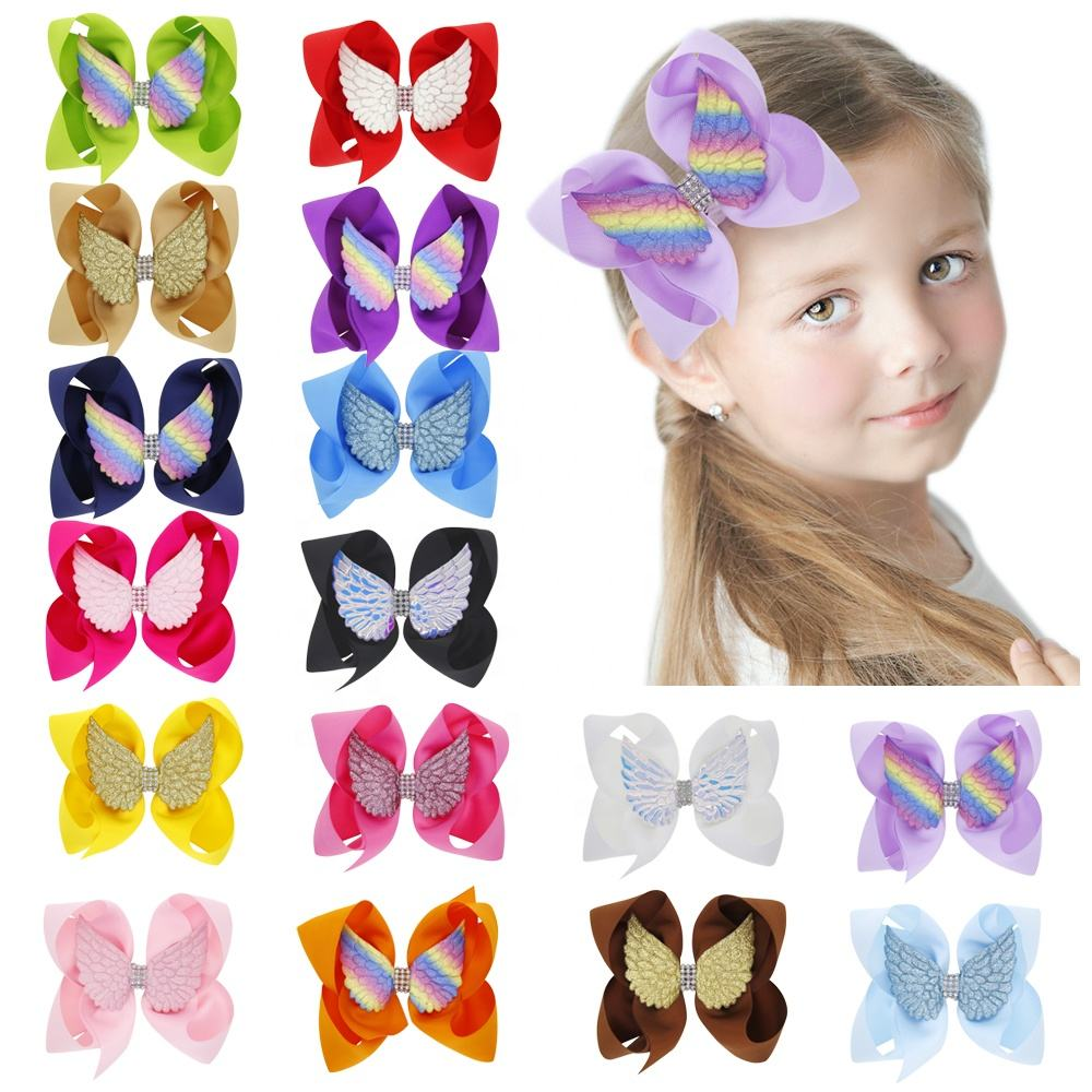 Newest children butterfly hair clip accessories baby girls hair bows barrettes hair clips