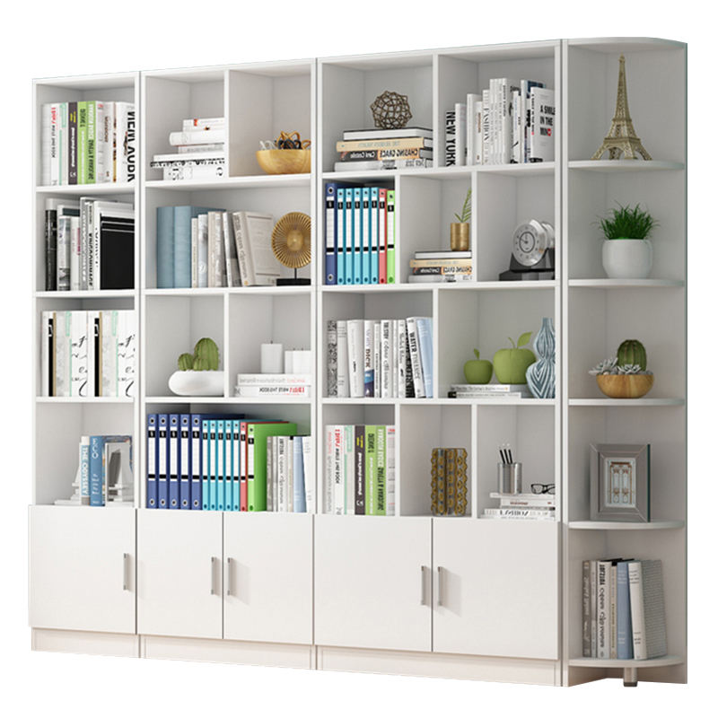 A cabinet for storing books Simple bookshelf Household study furniture Commercial bookcase Solid wood library display bookcase