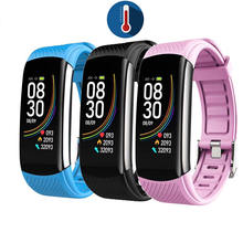 New band blood pressure blood oxygen real time heart rate 24hour health monitor C6t smart bracelet body temperature watch