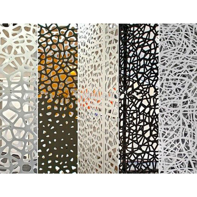 Decorative Perforated Screen Laser Cut Metal Facade Curtain Wall Cladding Steel Curtain Wall Outdoor